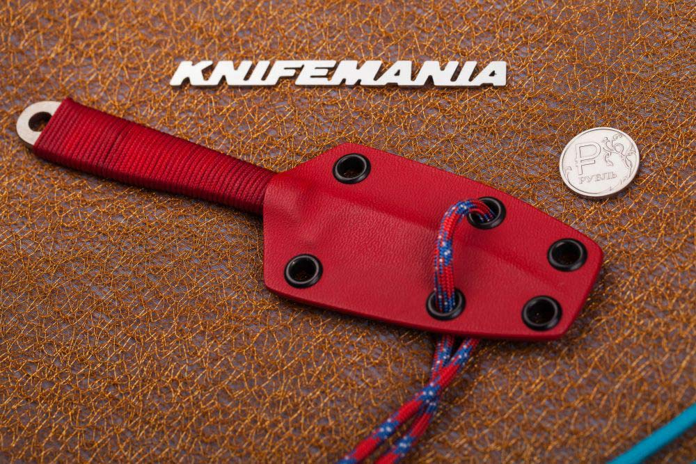 Branton Red-Neck Knives Model 4, Red Cord Wrapped Handle