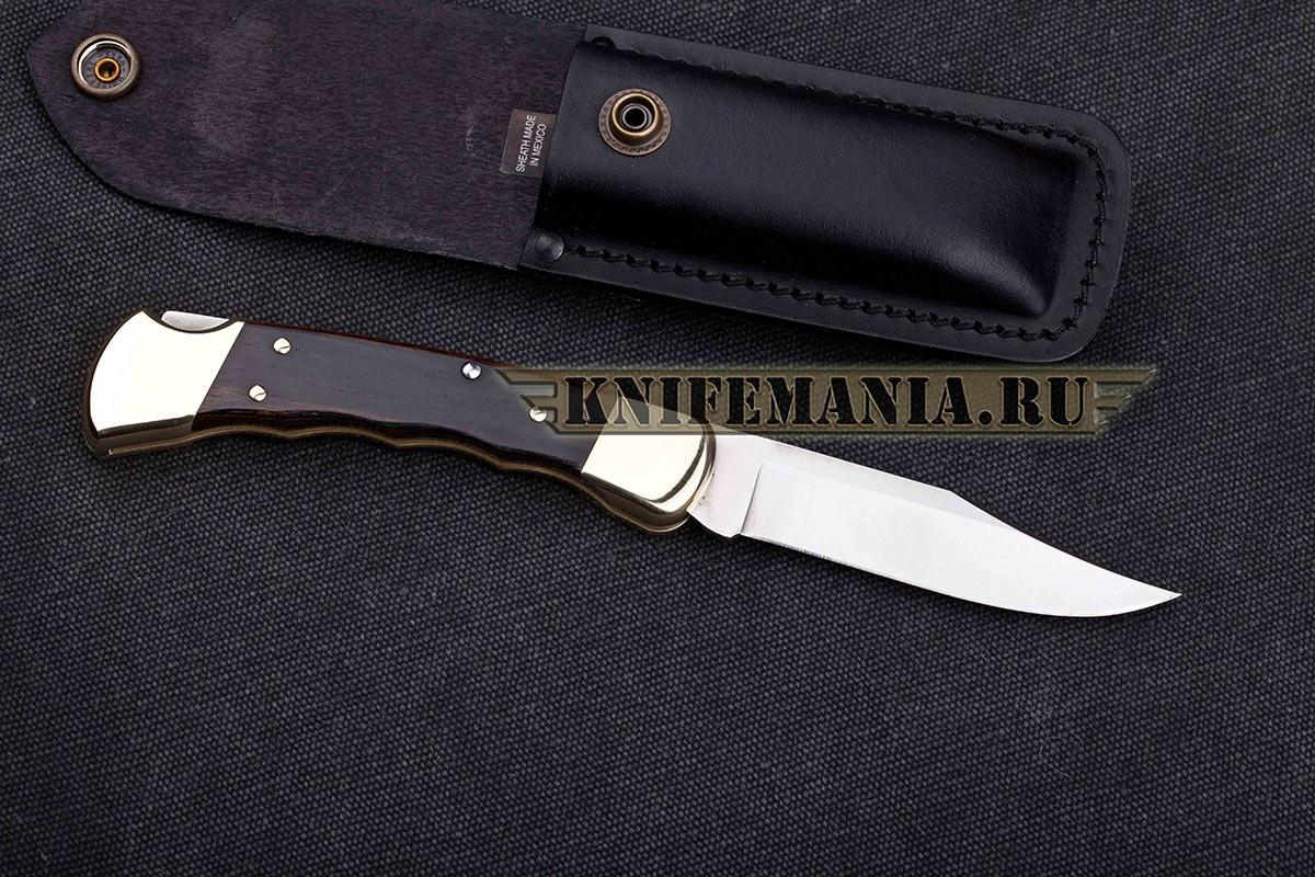 Buck 110 Ebony Grooved Handle