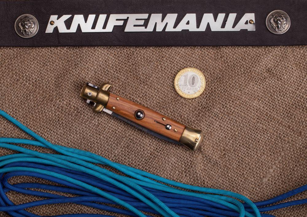 Armando Beltrame Coltellerie Italian Brass Olivewood Dagger