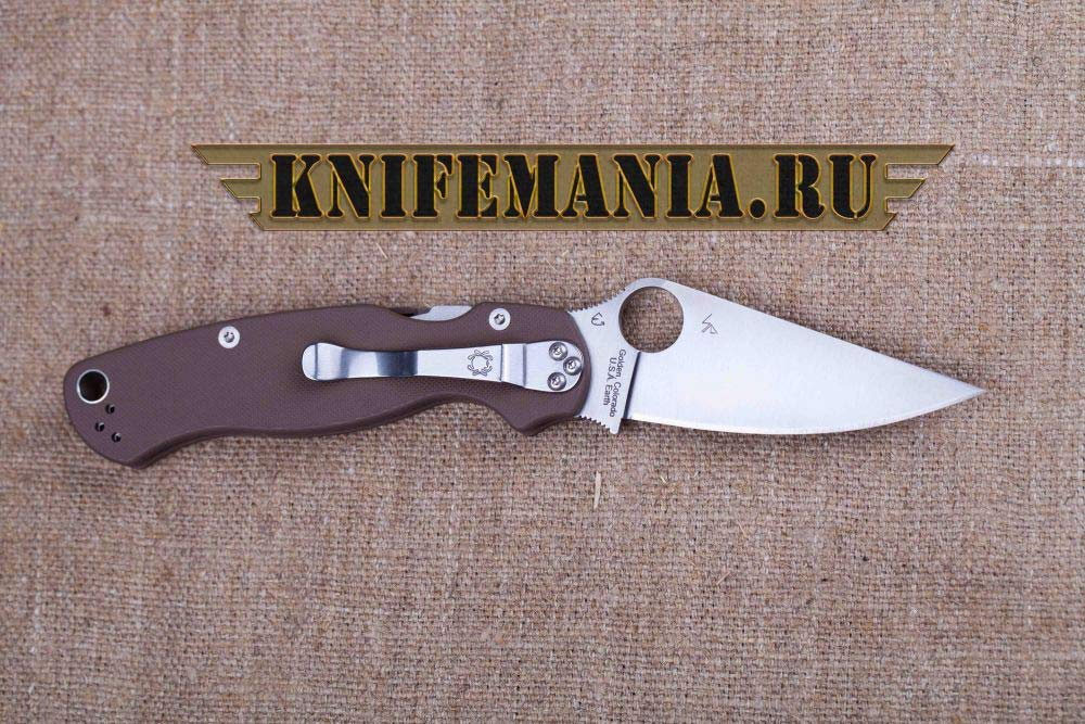 Spyderco Paramilitary 2 Earth Brown C81GPBN2